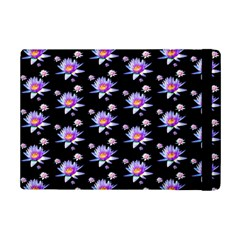 Flowers Pattern Background Lilac Ipad Mini 2 Flip Cases by BangZart