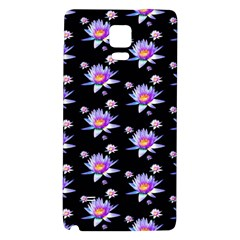 Flowers Pattern Background Lilac Galaxy Note 4 Back Case by BangZart