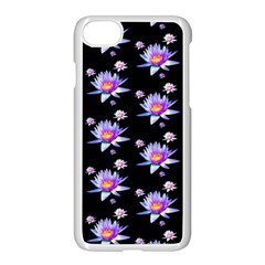 Flowers Pattern Background Lilac Apple Iphone 7 Seamless Case (white) by BangZart