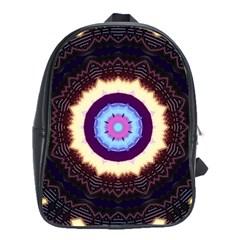 Mandala Art Design Pattern School Bags(large)  by BangZart