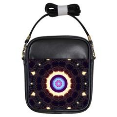 Mandala Art Design Pattern Girls Sling Bags by BangZart