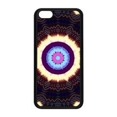 Mandala Art Design Pattern Apple Iphone 5c Seamless Case (black) by BangZart