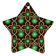 Pattern Background Bright Brown Ornament (star) by BangZart
