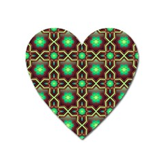 Pattern Background Bright Brown Heart Magnet by BangZart