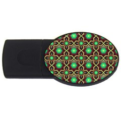 Pattern Background Bright Brown Usb Flash Drive Oval (2 Gb) by BangZart