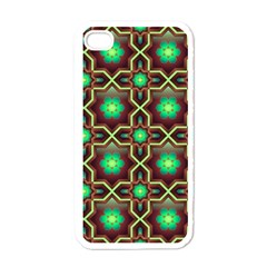Pattern Background Bright Brown Apple Iphone 4 Case (white) by BangZart