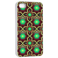Pattern Background Bright Brown Apple Iphone 4/4s Seamless Case (white) by BangZart