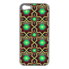 Pattern Background Bright Brown Apple Iphone 5 Case (silver) by BangZart