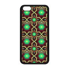 Pattern Background Bright Brown Apple Iphone 5c Seamless Case (black) by BangZart