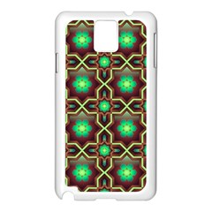 Pattern Background Bright Brown Samsung Galaxy Note 3 N9005 Case (white) by BangZart