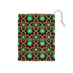Pattern Background Bright Brown Drawstring Pouches (medium)  by BangZart