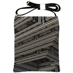 Fractal 3d Construction Industry Shoulder Sling Bags by BangZart