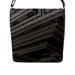 Fractal 3d Construction Industry Flap Messenger Bag (l)  by BangZart