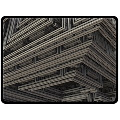 Fractal 3d Construction Industry Double Sided Fleece Blanket (large)  by BangZart