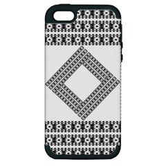 Pattern Background Texture Black Apple Iphone 5 Hardshell Case (pc+silicone) by BangZart