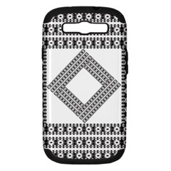 Pattern Background Texture Black Samsung Galaxy S Iii Hardshell Case (pc+silicone) by BangZart