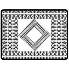Pattern Background Texture Black Double Sided Fleece Blanket (large)  by BangZart