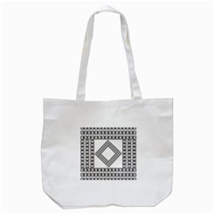 Pattern Background Texture Black Tote Bag (white) by BangZart