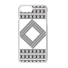Pattern Background Texture Black Apple Iphone 7 Plus White Seamless Case by BangZart