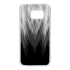 Feather Graphic Design Background Samsung Galaxy S7 White Seamless Case by BangZart