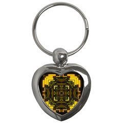 Abstract Glow Kaleidoscopic Light Key Chains (heart)  by BangZart