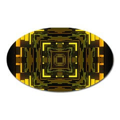Abstract Glow Kaleidoscopic Light Oval Magnet by BangZart