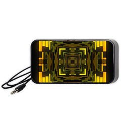 Abstract Glow Kaleidoscopic Light Portable Speaker (black) by BangZart