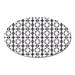 Pattern Background Texture Black Oval Magnet by BangZart