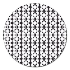 Pattern Background Texture Black Magnet 5  (round) by BangZart