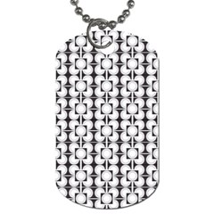 Pattern Background Texture Black Dog Tag (two Sides) by BangZart
