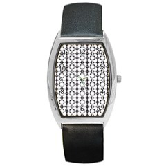 Pattern Background Texture Black Barrel Style Metal Watch by BangZart