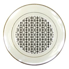 Pattern Background Texture Black Porcelain Plates by BangZart