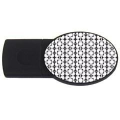 Pattern Background Texture Black Usb Flash Drive Oval (4 Gb) by BangZart
