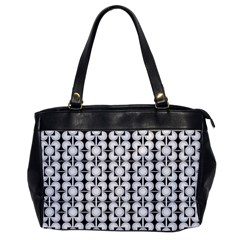 Pattern Background Texture Black Office Handbags by BangZart