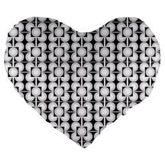 Pattern Background Texture Black Large 19  Premium Heart Shape Cushions by BangZart