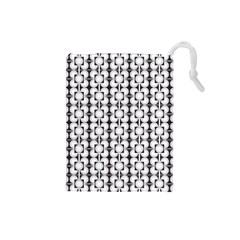 Pattern Background Texture Black Drawstring Pouches (small)  by BangZart