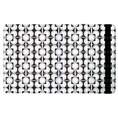Pattern Background Texture Black Apple Ipad Pro 9 7   Flip Case