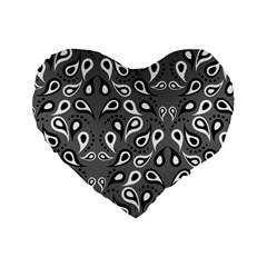 Paisley Pattern Paisley Pattern Standard 16  Premium Heart Shape Cushions by BangZart