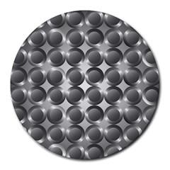 Metal Circle Background Ring Round Mousepads by BangZart