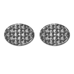 Metal Circle Background Ring Cufflinks (oval) by BangZart
