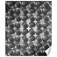 Metal Circle Background Ring Canvas 8  X 10  by BangZart