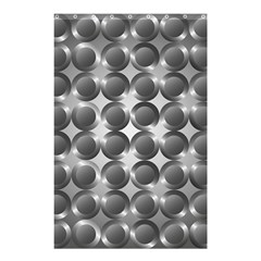 Metal Circle Background Ring Shower Curtain 48  X 72  (small)  by BangZart