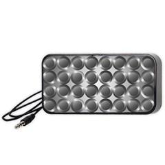 Metal Circle Background Ring Portable Speaker (black) by BangZart