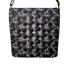 Metal Circle Background Ring Flap Messenger Bag (l)  by BangZart
