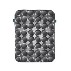 Metal Circle Background Ring Apple Ipad 2/3/4 Protective Soft Cases by BangZart