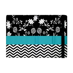 Flowers Turquoise Pattern Floral Apple Ipad Mini Flip Case by BangZart