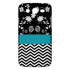 Flowers Turquoise Pattern Floral Samsung Galaxy Mega 5 8 I9152 Hardshell Case  by BangZart