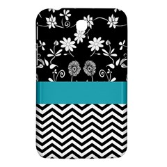 Flowers Turquoise Pattern Floral Samsung Galaxy Tab 3 (7 ) P3200 Hardshell Case  by BangZart