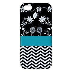 Flowers Turquoise Pattern Floral Iphone 5s/ Se Premium Hardshell Case by BangZart