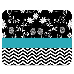 Flowers Turquoise Pattern Floral Double Sided Flano Blanket (medium)  by BangZart